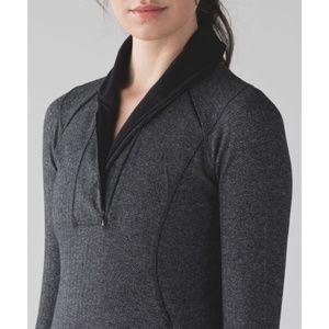 lululemon athletica Tops - Lulu Think Fast Pullover Herringbone Half-Zip Grey